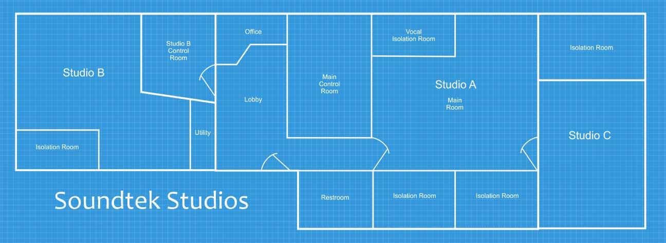 Soundtek San Jose Recording Studios floor plan